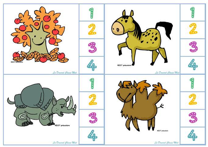 Compter les syllabes MS / cartes à syllabes