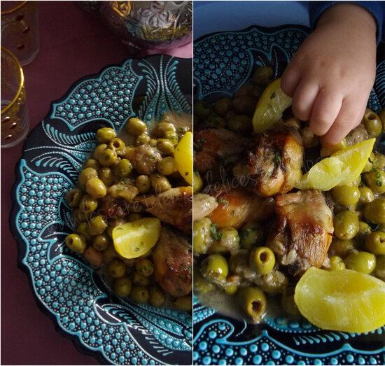Poulet aux Olives et aux Citrons Confits { Marocan Recipe}