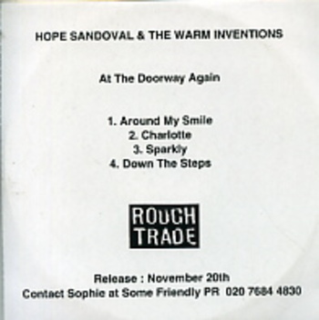 les SINGLéS # 81: Hope Sandoval and the Warm Inventions - At the doorway again EP (2000)