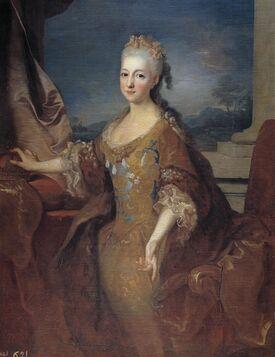 Portrait de la reine Louise-Élisabeth d'Espagne, peinte par Jean Ranc (1724).