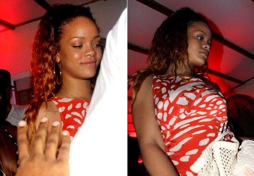 Rihanna a une soirée en Barbade