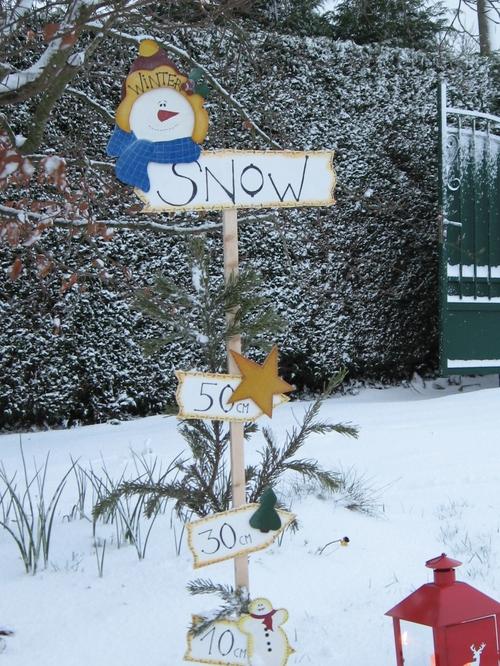 "Panneau de Noël ""Winter Snow"" Ho Ho Ho ..."