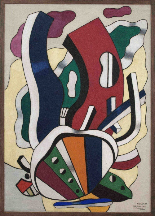 Maquette pour une peinture murale, Fernand Léger, 1938. LaM à Lille.
