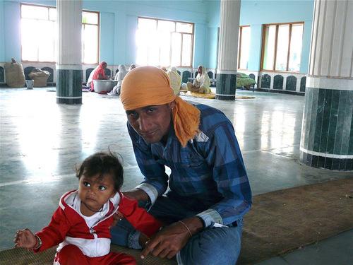 portrait; un père et son enfant