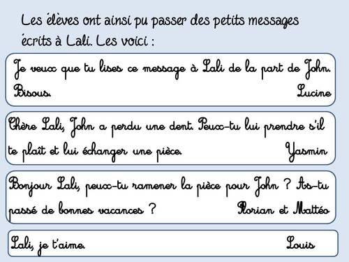 Ecrire un message à Lali, la petite souris