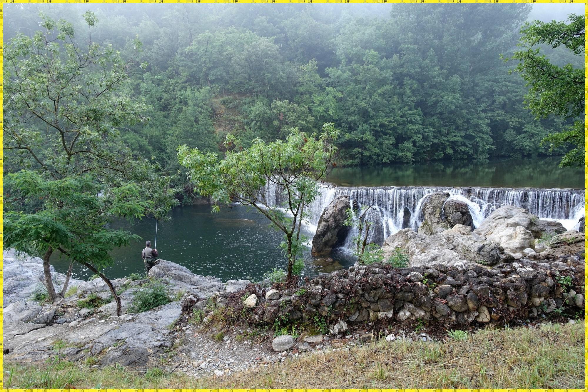 À la sortie du Vigan et en longeant la rivière Arre
