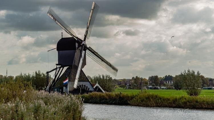 Pays-Bas : Les moulins de Kinderdijk