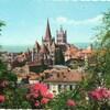 lausanne carte années 70 ou 80 cathédrale