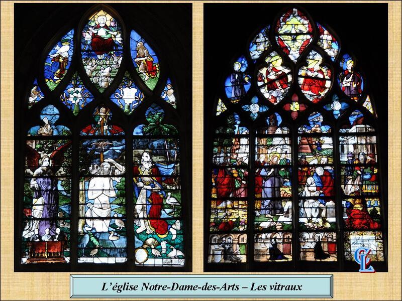 Vitraux de Notre-Dame-des-Arts (Eure)...