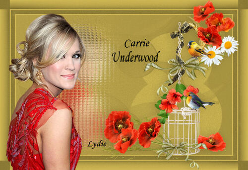 Mes Créations Artistes  Carrie UNDERWOOD