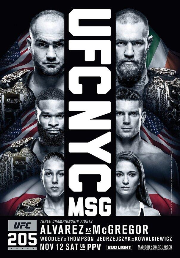 affiche UFC 205 : Alvarez vs. McGregor