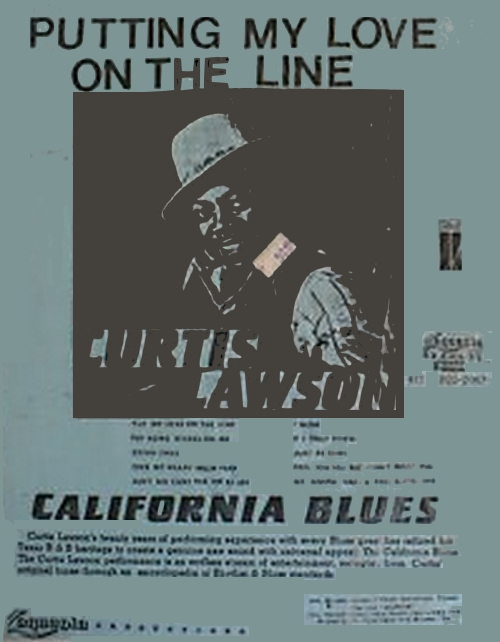 "Curtis Lawson : Album "" Putting My Love On The Line "" Laquenta Records LR-74484 [ US ]"