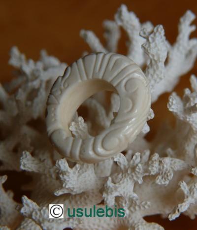 Blog de usulebis : Usulebis ,Artisan créateur de bijoux polynésiens , contact : usulebis@hotmail.fr, Bague en os N°11
