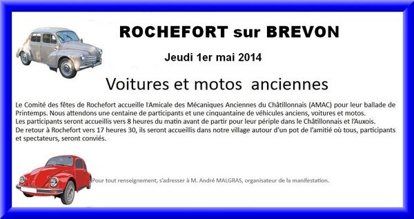 Une belle balade pour l'Amicale des Mécaniques Anciennes du Châtillonnais