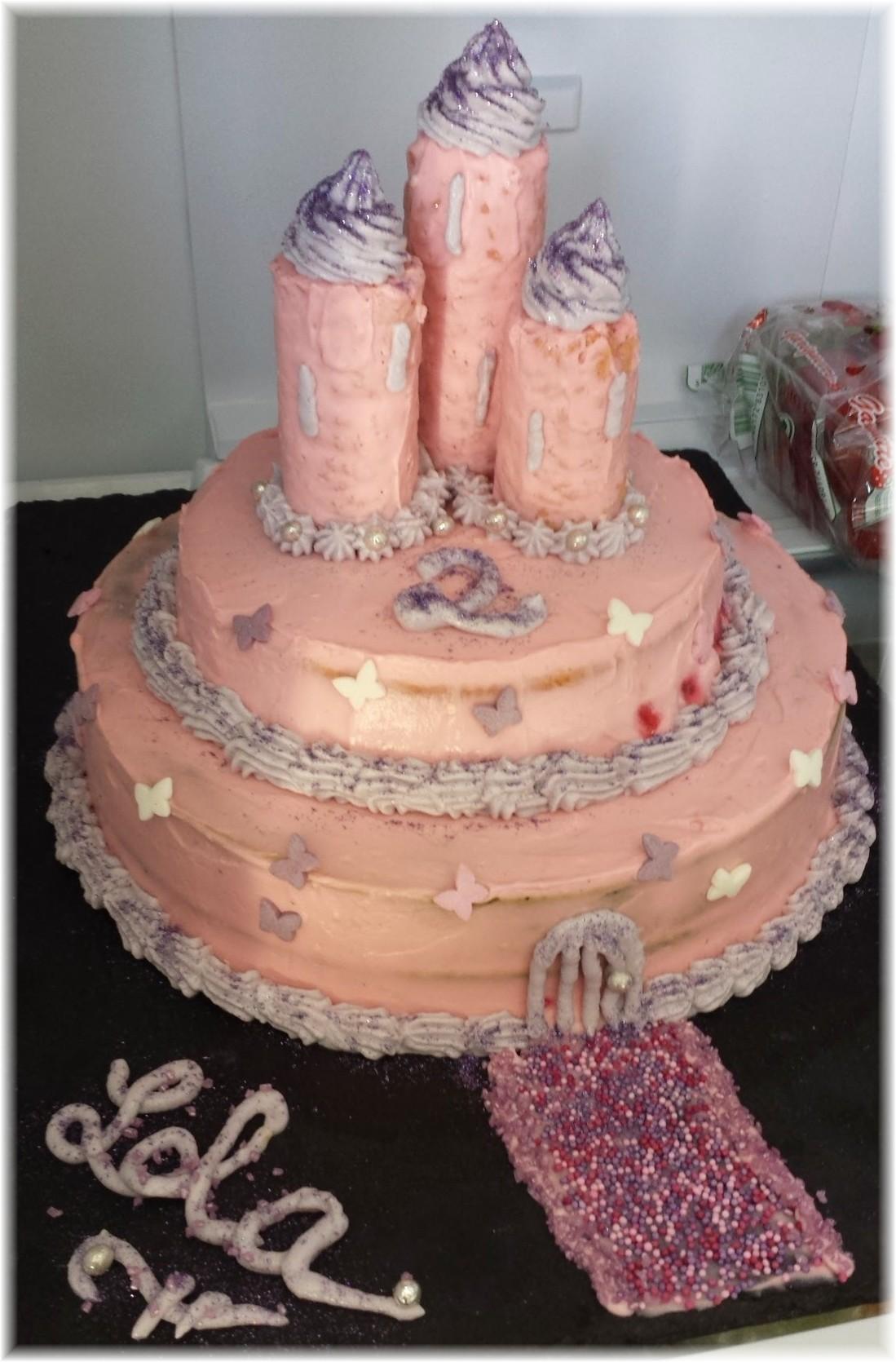 Gâteau Danniversaire Pour Petite Fillele Château De Princesse