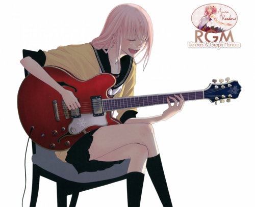 vocaloid megurine luka guitare