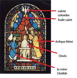 Etude d'un vitrail : la baptême de Clovis