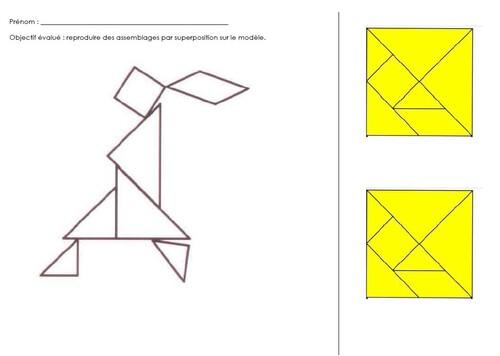 """Séquence """"Assemblage de formes - le tangram"""""""