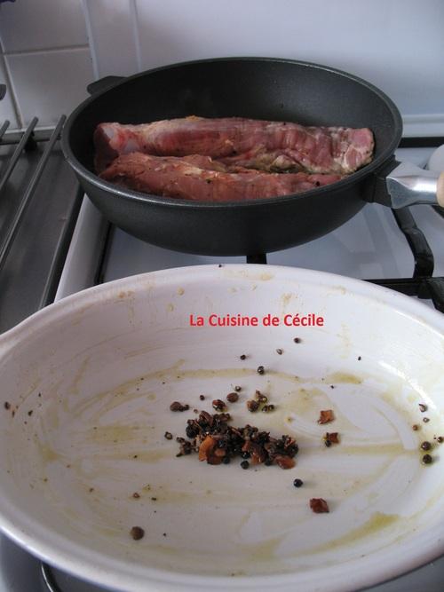 Filet mignon rôti en croûte d'épices