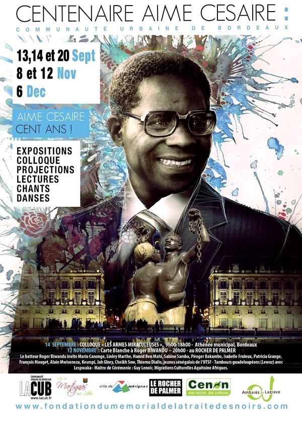 Aimé Césaire célébré à Bordeaux -Mémoires & Partages : Fondation du Mémorial de la Traite des Noirs