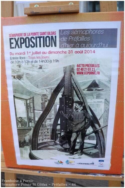 Exposition au sémaphore de la Pointe St Gildas à Préfailles