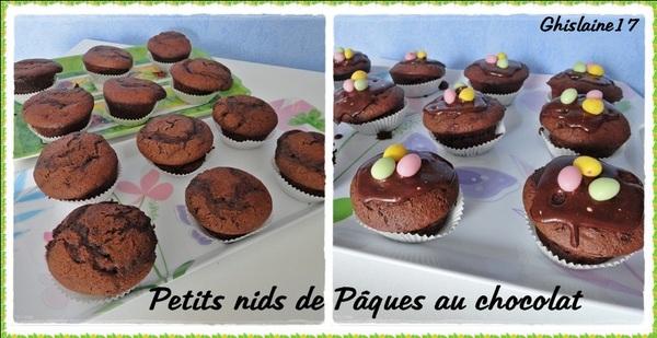 Petits nids de Pâques au chocolat