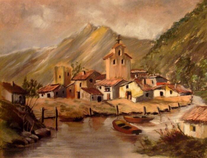 Village de pêcheurs en Espagne