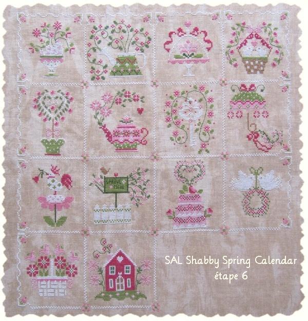 SAL Shabby spring calendar étape 6