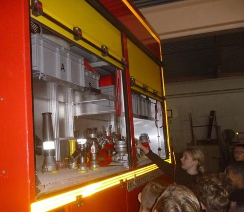 Visite de la caserne de pompiers