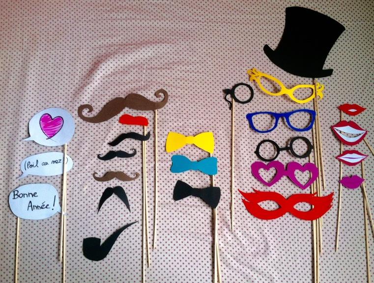 Les déguisements en papier, pour des photos rigolotes !