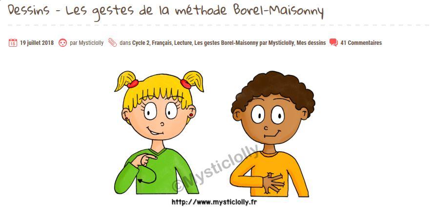 Les gestes Borel-Maisonny de Mysticlolly