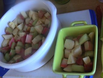 Crumble de pomme-rhubarbe