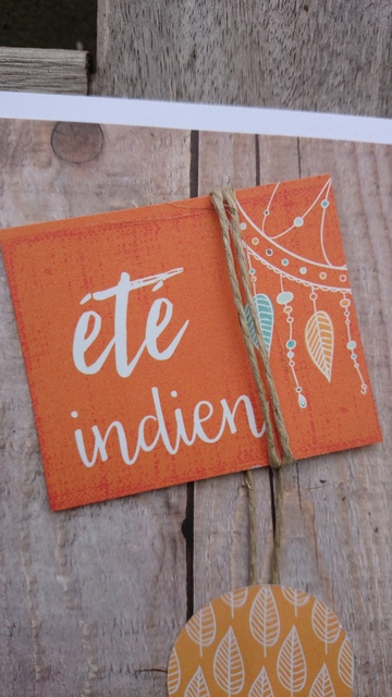 Eté indien - Carte Scrap