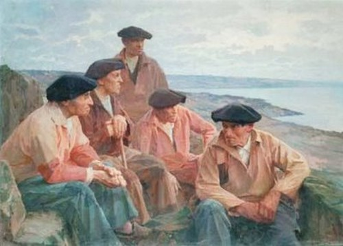 Henri Royer Devant la grande mer Cote basque