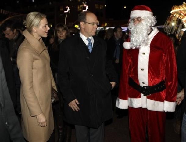 Charlène, Albert et le Père Noël!!!