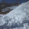 Traversée d\'une troisième coulée de  neige