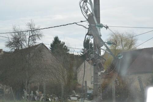 120 foyers privés d'électricité pendant 7 heures.