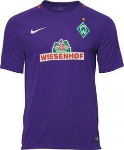 Nouveau Maillot de Exterieur Werder Bremen 2016/17 pas cher