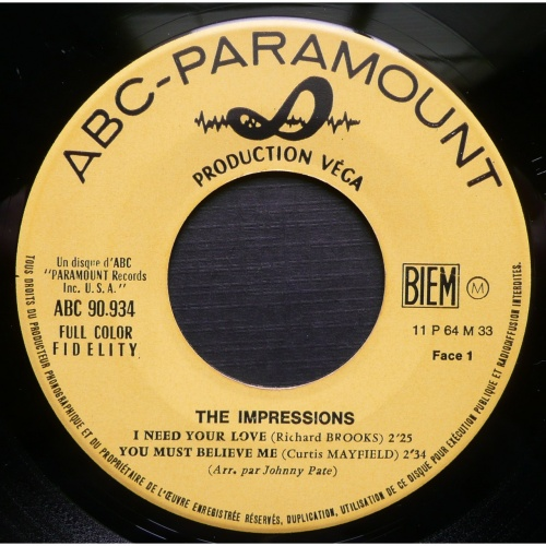 1964 : EP Vega / ABC Paramount Records 90934 [ FR ]