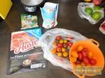 Salade de tomates mozza' et jambon cru