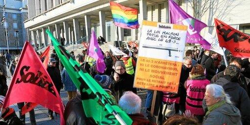 Réforme des retraites : 250 personnes rassemblées à Brest (LT.fr-2/03/20-19h02)