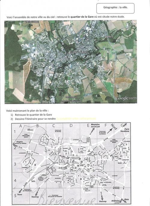 Géographie : mon quartier, ma ville