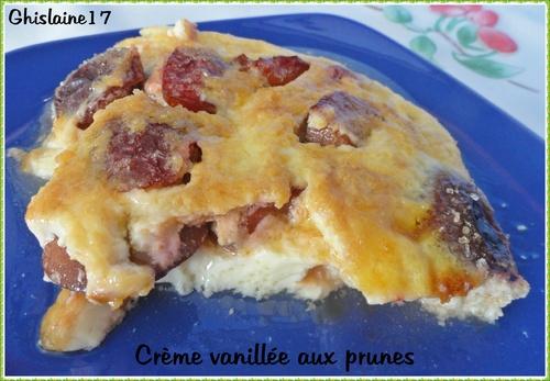 Crème vanillée aux prunes