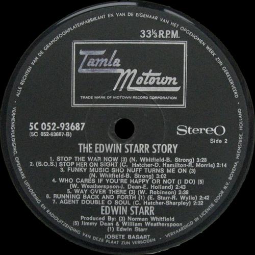 "Edwin Starr : Album "" Motown Special Edwin Starr "" Motown Records 5C 038-98352 [ NL ]"