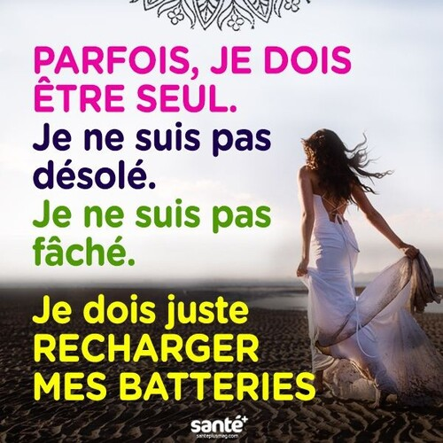 Rechargeons nos batteries