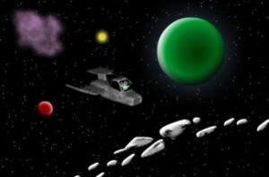ArtKivez - E.T. escapes the solar system
