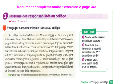S'engager au collège