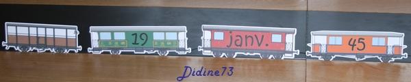 Banderole et carte d'anniversaire - train -7