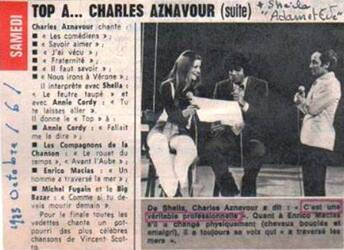 06 octobre 1973 / TOP A CHARLES AZNAVOUR