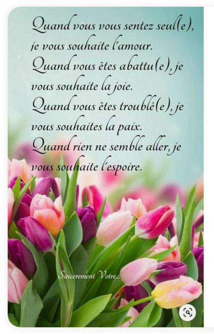 Message de Micheline